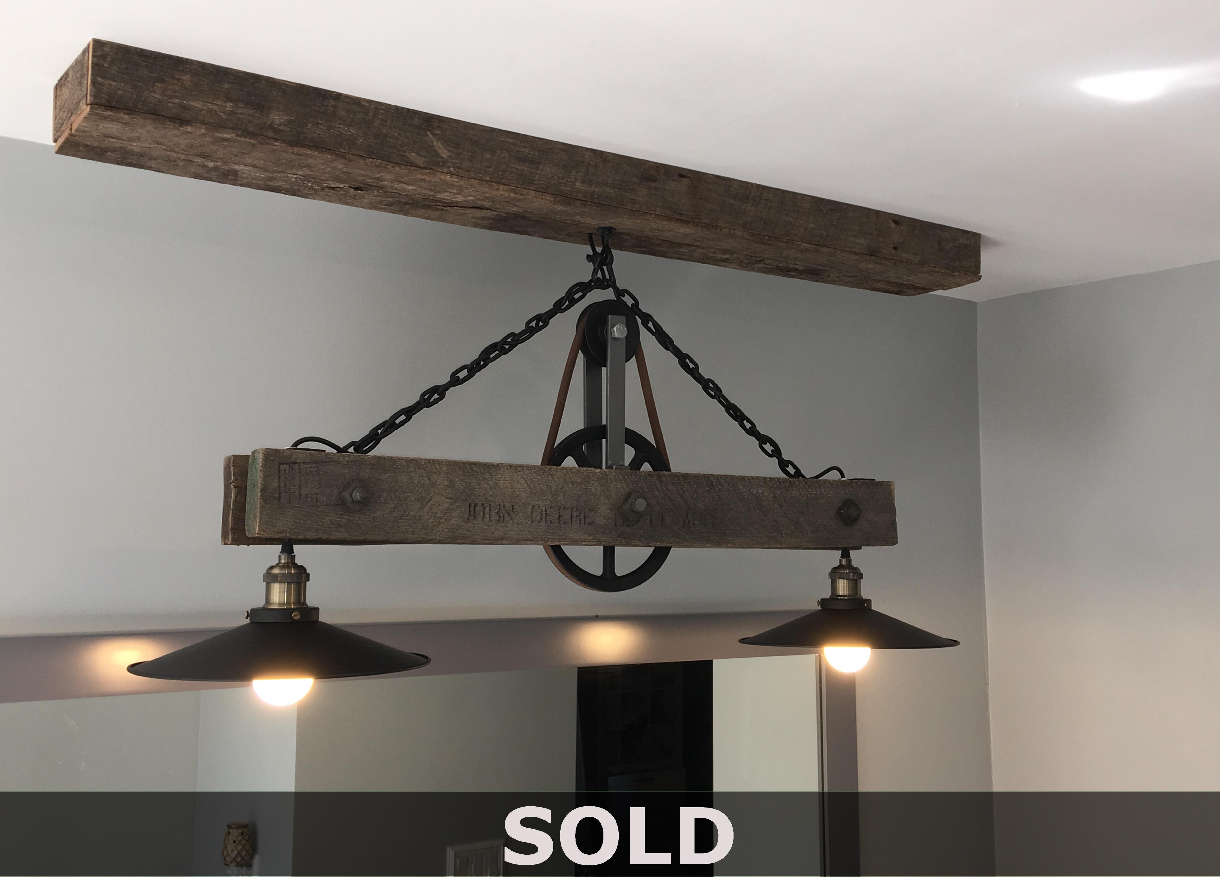 John Deere Pallet Pendant Lamp